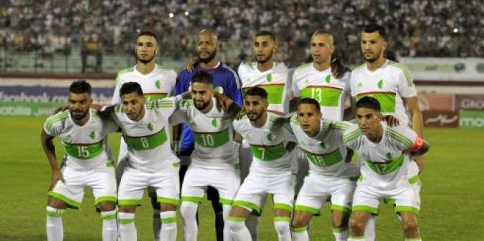 L'équipe nationale algérienne lors des qualifications pour la CAN 2017, à Alger le 4 septembre 2016.