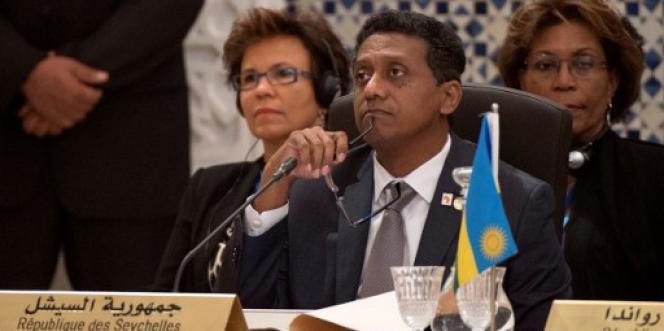 Le président des Seychelles Danny Faure, à Marrakech, lors de la COP22, le 16 novembre 2016.