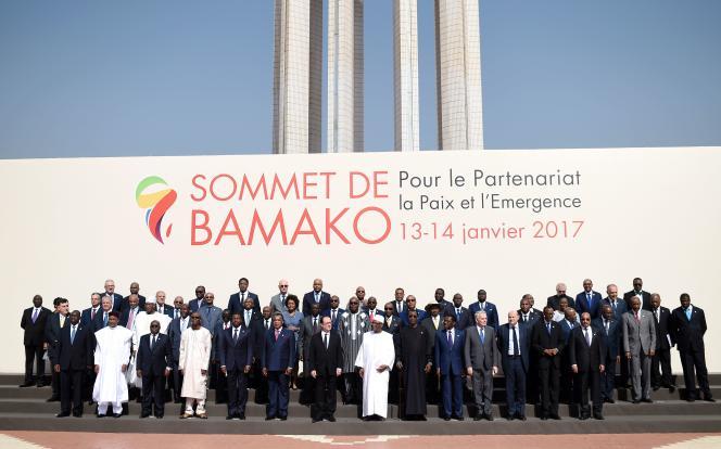 Trente chefs d'Etat africains et François Hollande étaient présents à Bamako pour le sommet Afrique-France.