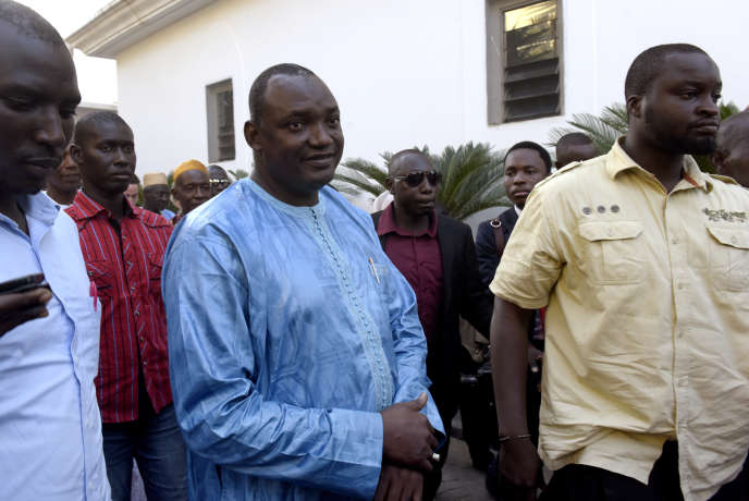 Adama Barrow, à Banjul, capitale de la Gambie, le 16 décembre.