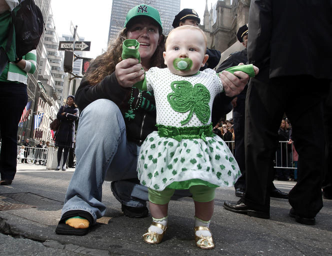 Marche de la Saint-Patrick à New York.