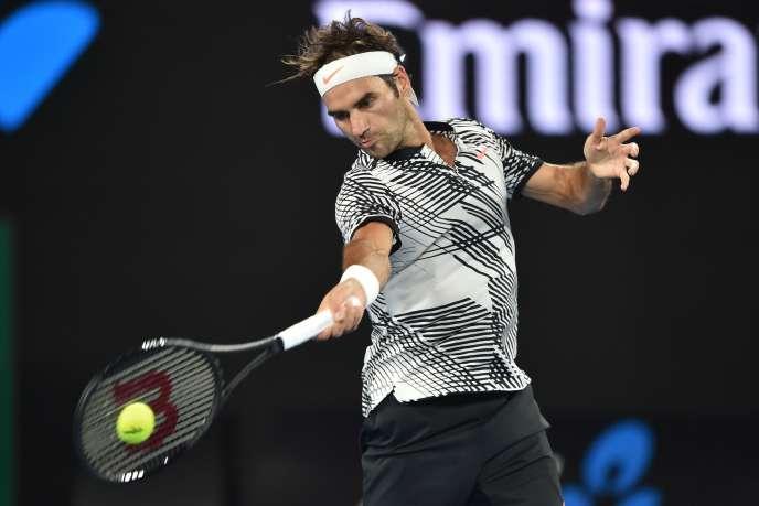 Roger Federer lors de l'Open d'Australie, le 16 janvier 2017.