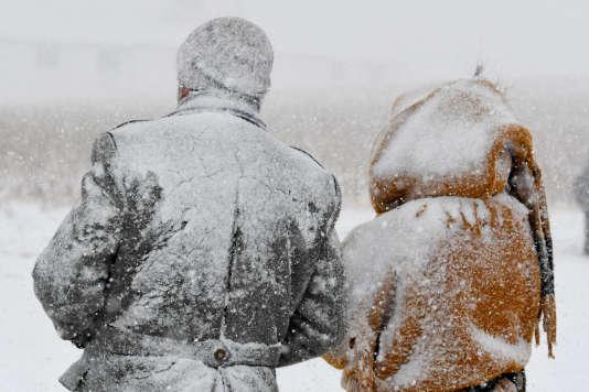 La neige dans le sud de l'Allemagne, le 15 janvier.