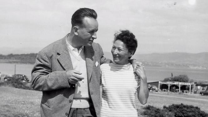 Le philosophe français Louis Althusser et sa femme Hélène Rytmann
