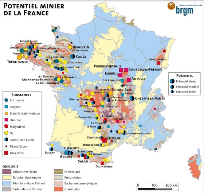 Potentiel minier de la France
