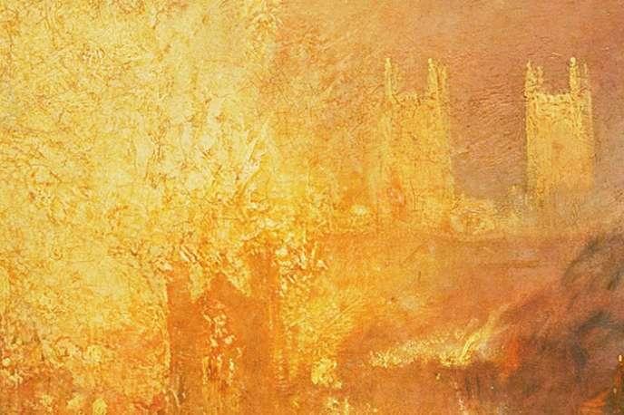 Détail de « L'incendie de la Chambre des Lords et des Communes», Joseph Mallord William Turner (1835), qui illustre l'affiche de l'opéra.