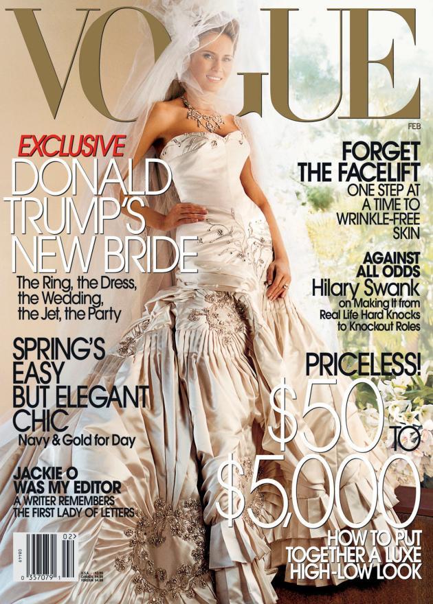 Melania Trump en couverture du magazine «Vogue», en 2005.