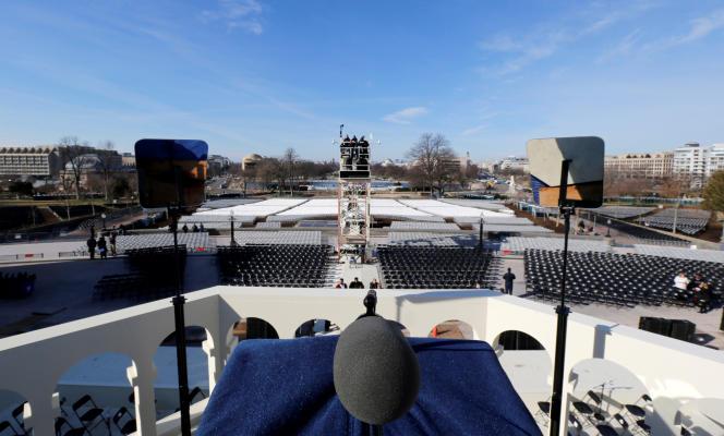La vue qu'aura Donald Trump depuis le podium dressé sur les marches du Capitole.