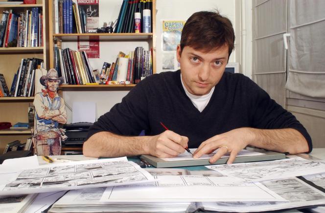 Le dessinateur Matthieu Bonhomme, dont le dernier opus, «L'homme qui tua Lucky Luke» (Dargaud, 2016) est en sélection officielle cette année au Festival d'Angoulême.