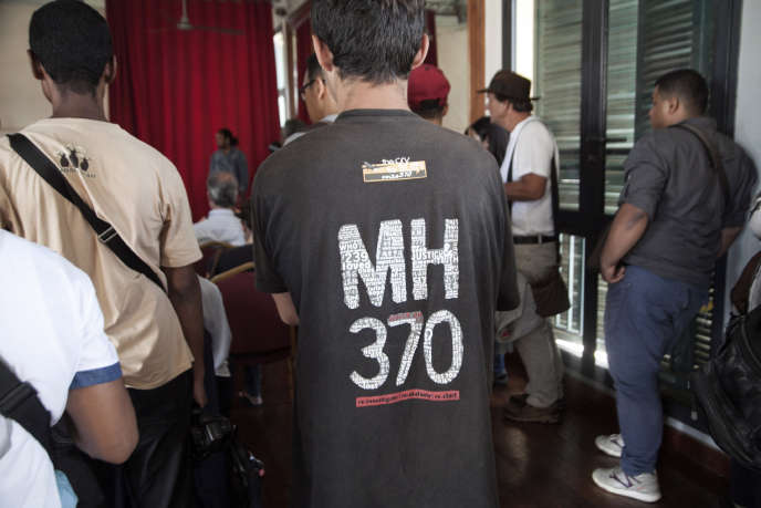 Conférence de presse d'une association de proches de passagers disparus du MH370 en décembre à Madagascar.