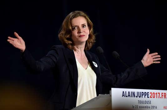 Nathalie Kosciusko-Morizet lors d'un meeting pour Alain Juppé au cours de la primaire de la droite, le 22 novembre 2016, à Toulouse.
