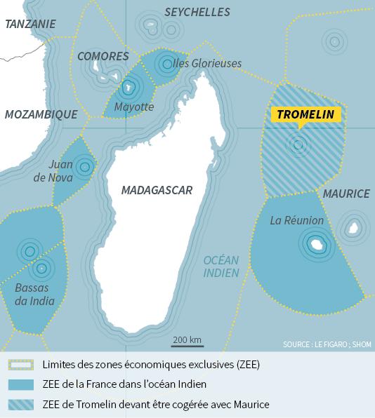 L'île Tromelin permettrait le contrôle de 280 000 km² de mers.