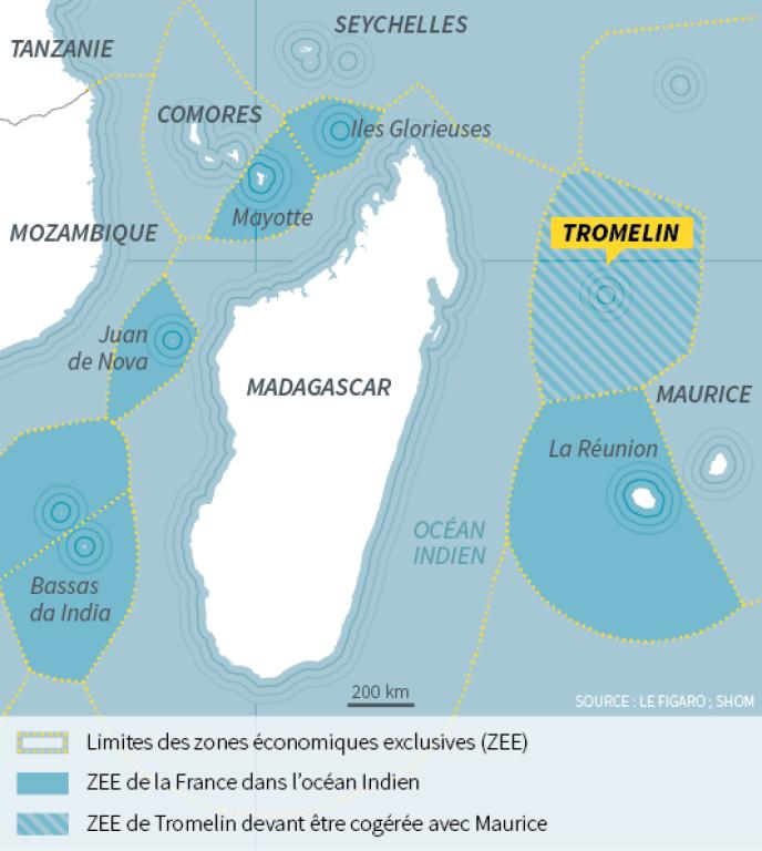 L'île de Tromelin permettrait le contrôle de 280 000 km² de mers.
