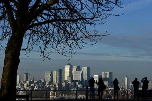 Vue de la City, le 17 janvier 2017 à Londres.