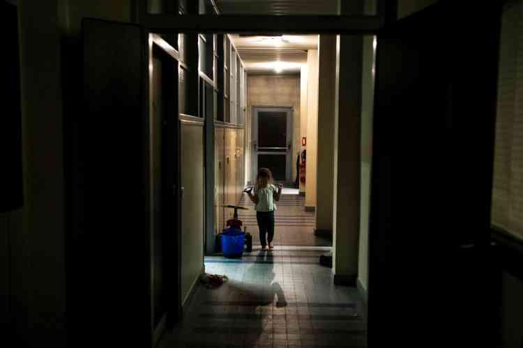 Dans un logement d'urgence géré par La Sasson, le 16 janvier, à Chambéry.