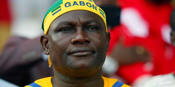 Un supporter du Gabon, le 14 janvier 2017, à Libreville.