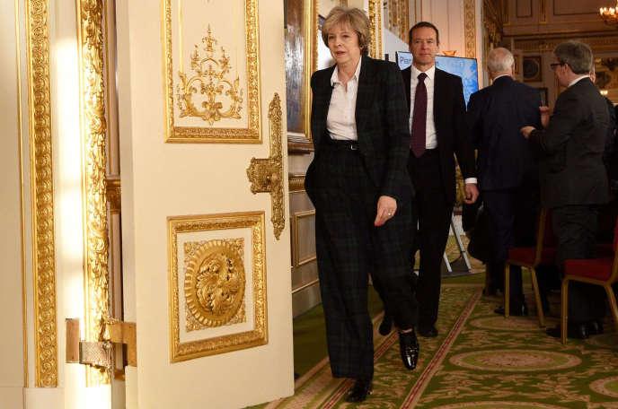 La première ministre britannique, Theresa May, à Lancaster House, à Londres, mardi 17 janvier