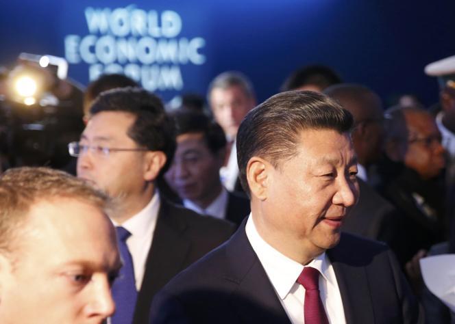 Le président chinoisXi Jinping, mardi 17 janvier au Forum économique mondial de Davos, en Suisse.