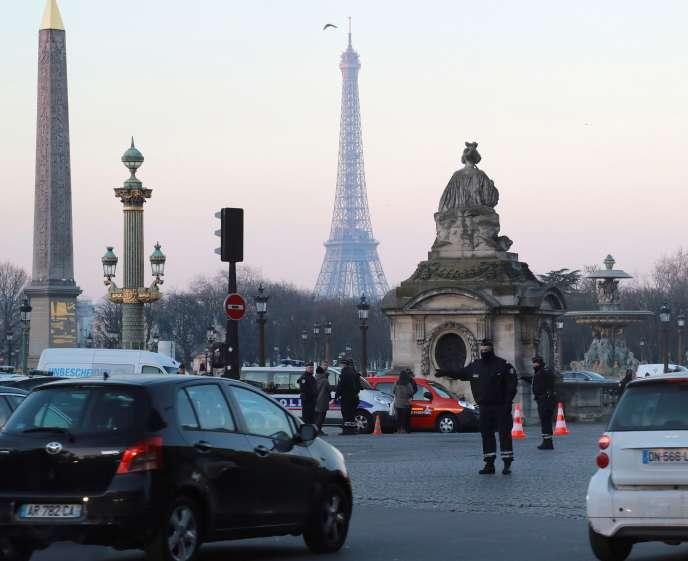 A Paris, le 18 janvier, lors d'un épisode de pollution aux particules fines.
