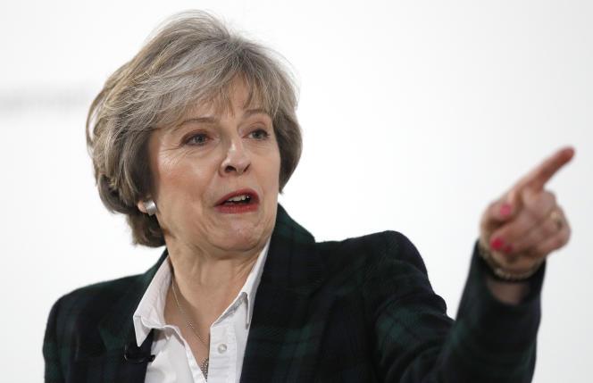 Theresa May lors de son discours, le 17 janvier.