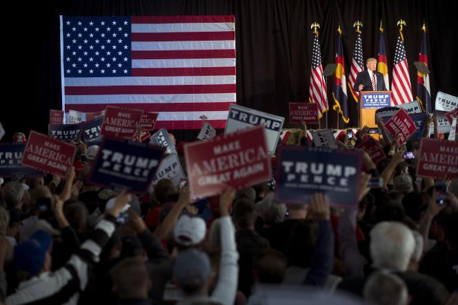 A un meeting de Donald Trump dans le Colorado, en octobre 2016.