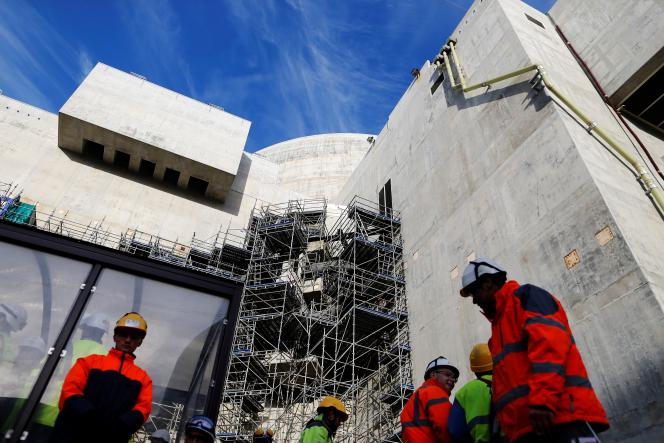 Le réacteur EPR en construction à Flamanville (Manche), le 16 novembre 2016.
