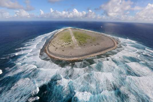 Une vue aérienne de l'île Tromelin, le 16 avril 2013.