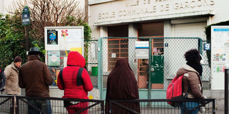Ecole élémentaire Richomme à Paris 18eme arrondissement, Paris France 6 janvier 2017