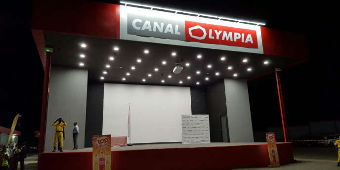 Le cinéma Canal Olympia à Douala, lors de son inauguration le 17 janvier 2017.