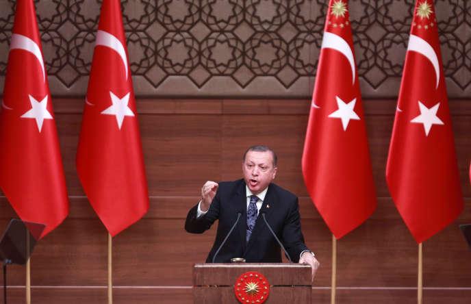 Recep Tayyip Erdogan, le 19 janvier à Ankara.