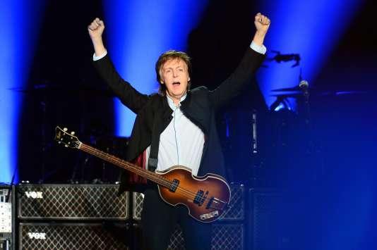 Le BritanniquePaul McCartney, le 30 mai, lors d'un concert à l'AccorHotels Arena de Paris.