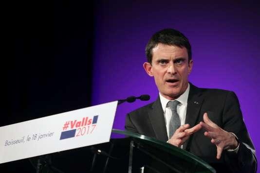 Manuel Valls à Boisseul, le 18janvier.