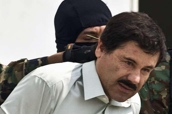 Joaquin «El Chapo» Guzman lors de son arrestation par les autorités mexicaines, en février 2014.