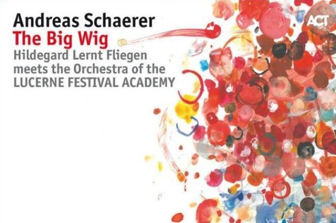 Pochette de l'album « The Big Wig », d'Andreas Schaerer avec Hildegard Lernt Fliegen et l'orchestre du Lucerne Festival Academy dirigé par Mariano Chiacchiarini