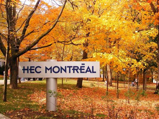 L'une des entrées de HEC Montréal.