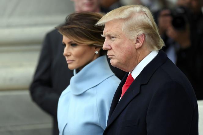 Donald Trump et Melania Trump, lors de l'investiture du président, le 20 janvier 2017.