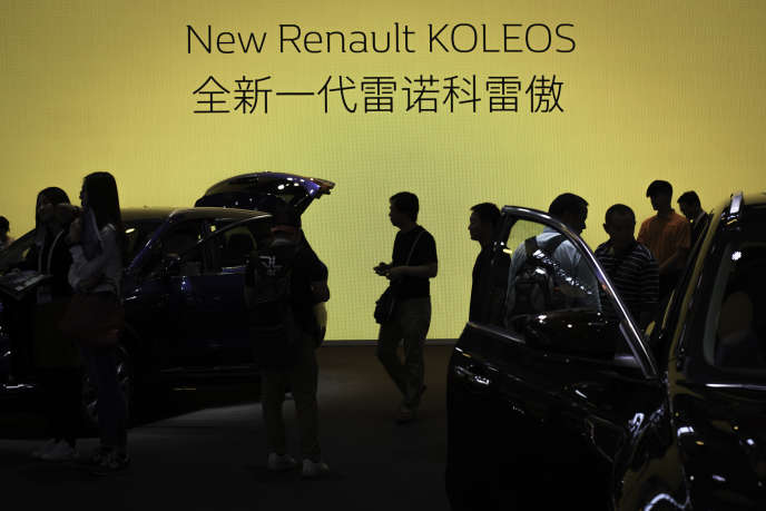 Le Koleos de Renault, à Pékin, en avril 2016.