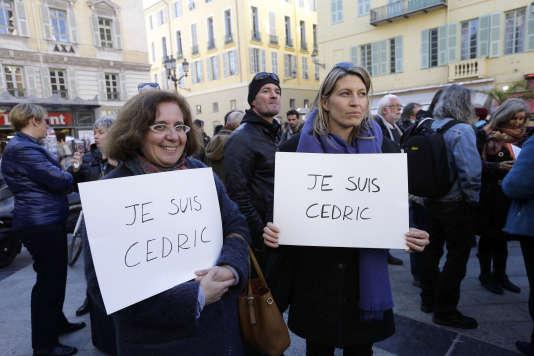 Le 4 janvier, devant le tribunal de Nice, des manifestants sont venus soutenir Cédric Herrou accusé d'avoir apporté une aide illégale aux migrants.
