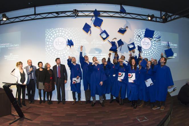 Cérémonie de remise des diplômes à la Toulouse Business School, le 14janvier.