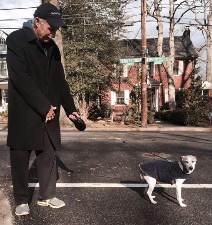 Mick Hoffman, dans le quartier très résidentiel de Chevy Chase, le 19janvier.