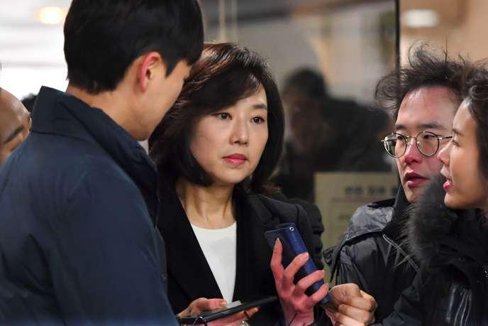 La ministre de la culture démissionaire,Cho Yoon-Sun, le 20 janvier à Séoul.