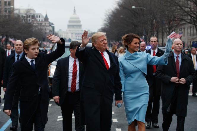 Donald Trump, et sa femme Melania, vendredi 20 janvier à Washington.