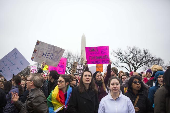 Marche des femmes à Washington, samedi 21 janvier.