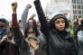Manifestation contre Donald Trump le jour de son investiture à Washington le 20 janvier.