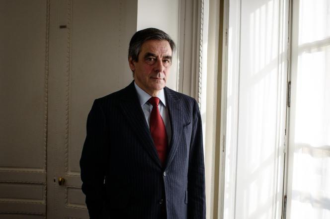 François Fillon dans son bureau de l'Assemblée nationale à Paris le 21 janvier.