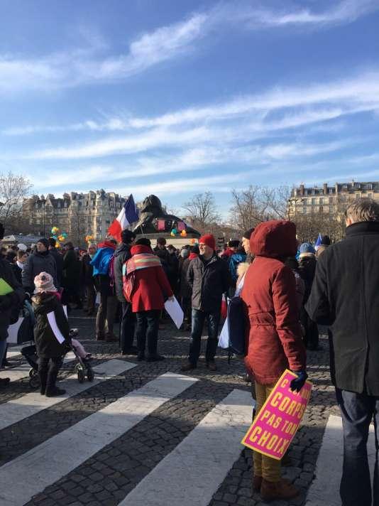 Les militants hostiles à l'avortement ont défilé, dimanche 22 janvier, à Paris.