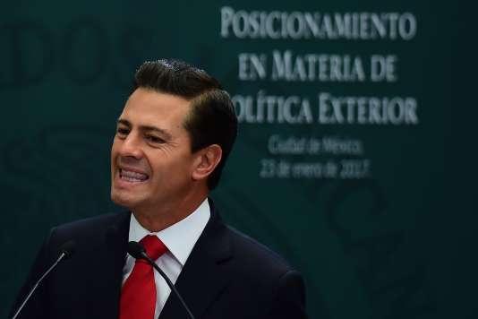 Le président mexicain, Enrique Peña Nieto, le 23 janvier.