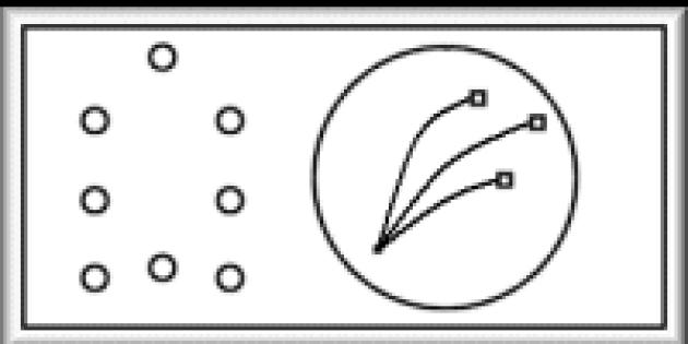 L'unique visuel du jeu en fonctionnement est un schéma en basse résolution, sur le brevet.