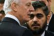 L'émissaire de l'ONU pour la Syrie, Staffan de Mistura et Mohamed Allouche, lenégociateur de l'opposition syrienne à Astana, le 23janvier.