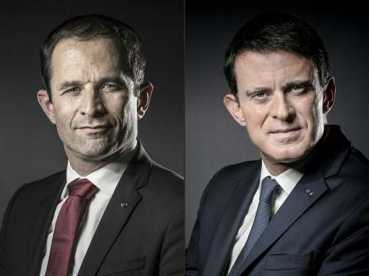 Benoît Hamon et Manuel Valls s'affronteront au second tour de la primaire de la gauche, le 29 janvier.
